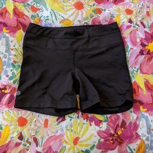 Athleta Black Sonar Bike Shorts Zipper Pocket S